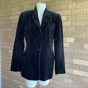 Vintage Black Velvet Express Blazer Menswear 5/6